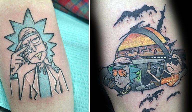 15 Awesome Rick And Morty Tattoo Ideas
